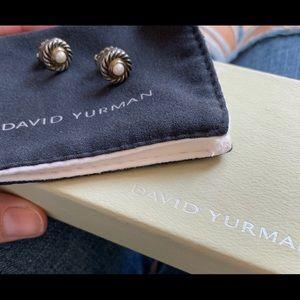 David Yurman pearl cookie earrings